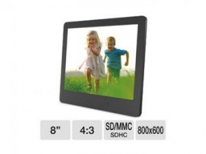 ViewSonic Digital Photo Frame - 8inch Display, 800 x 600, 4:3, 400:1 Native, LED Backlight, Light Sensor, SD Card Slot (VFD820-50)