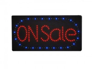 SaleSign Super Bright LED with Power Adaptor, Random Chasing Light feature