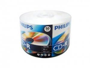 CD-R PHILIPS BRANDED WITH LOGO 50 PCS (CR7D5SY50/97)