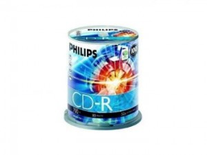 Philips 52x CD-R, 100 pcs/pk cake box