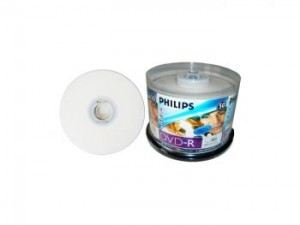 Philips Printable 52x CD-R, 50 pcs/pk