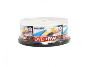 Philips DW4S4B25F/17 4.7G 25PK 4X DVD+RW