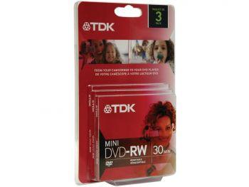 TDK mini DVD-RW, 3 pcs/pk