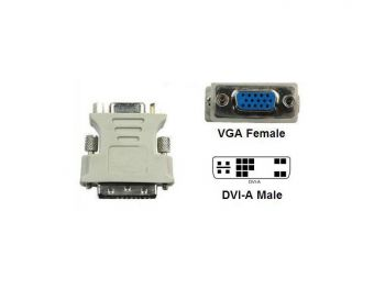 DVI-A Male (12+5) to VGA Female Adaptor