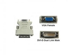 DVI (24+1) Male to VGA Female Adaptor