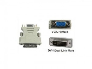 DVI (24+5) Male to VGA Female Adaptor