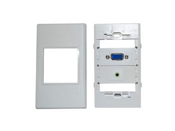 Wall Plate with Keystone Kit (VGA x 1, 3.5mm Audio x 1)