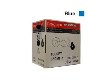 1000ft Cat6 CMP/FT6 Blue Patch Cable