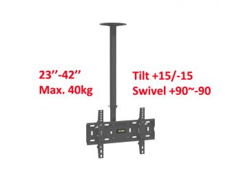 Ceiling mount with Adjustable Tilting for 23-42inch LCD/LED/Plasma