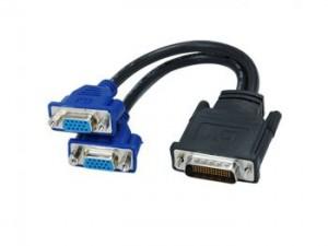 DMS-59 Male to 2 VGA Female